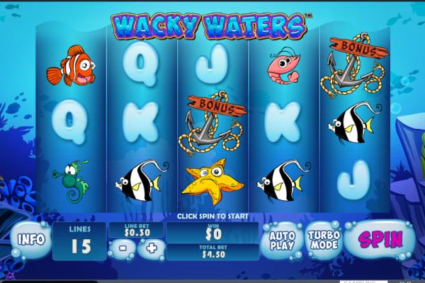 Игровой автомат Wacky Waters - выиграй богатства подводного мира