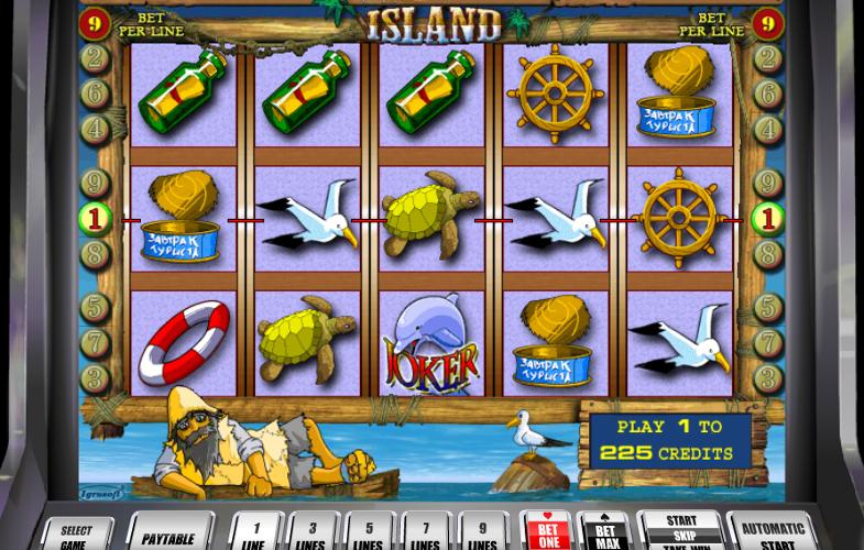 Игровой автомат Island - остров с сокровищами для игроков казино Икс