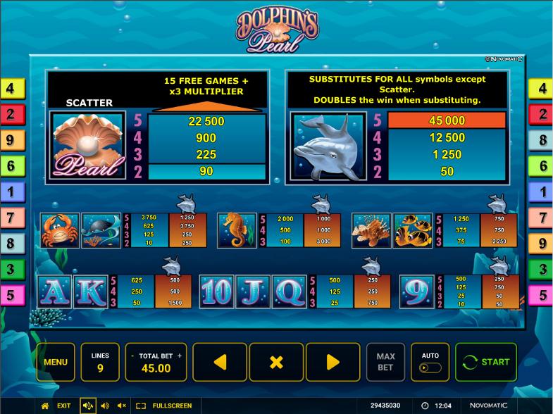Гарантированные выигрыши в слоте Dolphins Pearl в Вулкан Делюкс казино