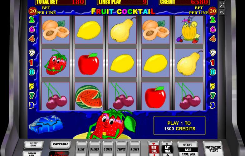 Игровой автомат Fruit Cocktail - играй и выигрывай по крупному в онлайн клуб Вулкан Платинум
