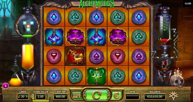 Игровой автомат Alchymedes - слоты от Yggdrasil на официальный сайт казино Вулкан