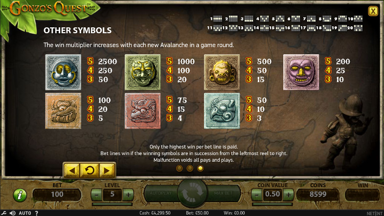 Игровой автомат Gonzo's Quest - в казино Вулкан 24 бонус получайте за игру в слоте
