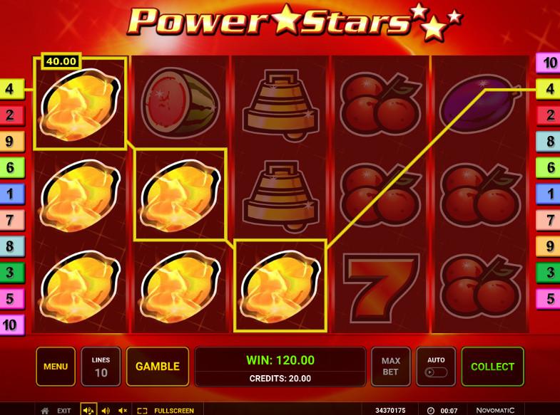 Игровой автомат Power Stars поможет получить супер приз на официальный сайт 24 Вулкан
