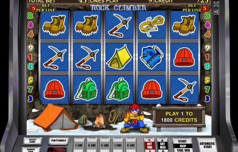 В игровом автомате Rock Climber легальное казино Вулкан Гранд обрадует выигрышами