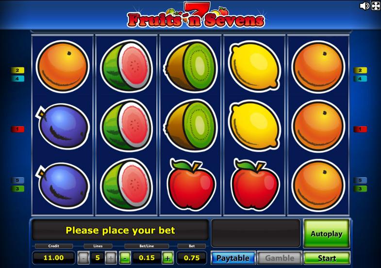 Игровой автомат Fruits'n Sevens - реальные выигрыши в слоты казино Вулкан