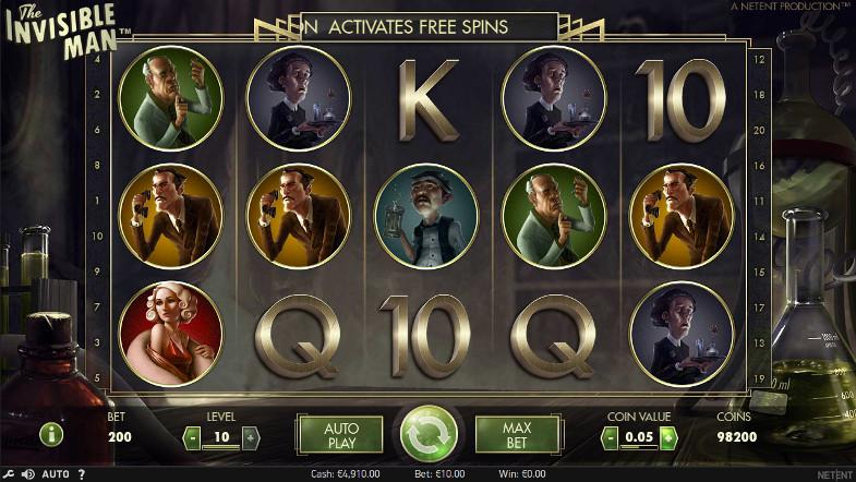 Игровой автомат The Invisible Man - незабываемые выигрыши в слотах казино Вулкан