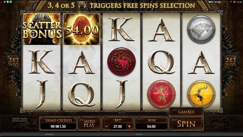 Побеждайте в автомате Game of Thrones на Вулкан - главный сайт казино известного бренда