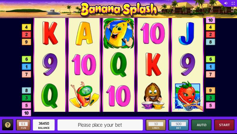 Игровой автомат Banana Splash - побеждай на официальном сайте Азино 777 казино
