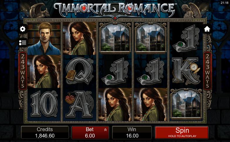 Игровой автомат Immortal Romance - получай промокоды для игры в Вулкан казино