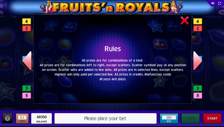 Попробуй слот Fruits and Royals в казино Вулкан Старс - официальный клуб игровых автоматов