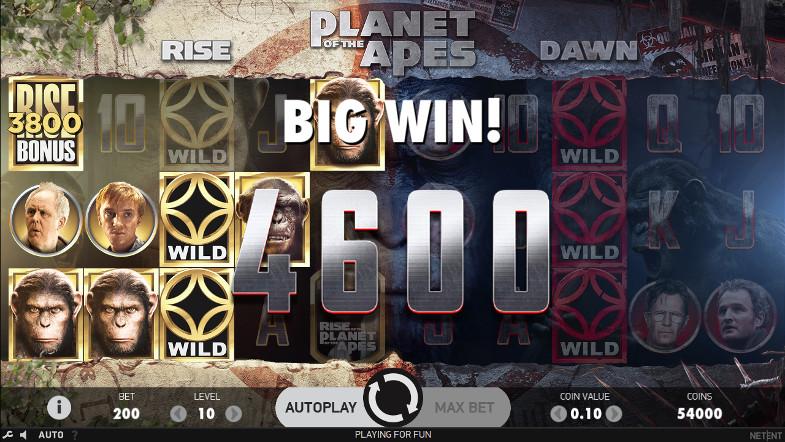 Щедрый автомат Planet of the Apes - играйте в Вулкан Гранд - игровой онлайн клуб
