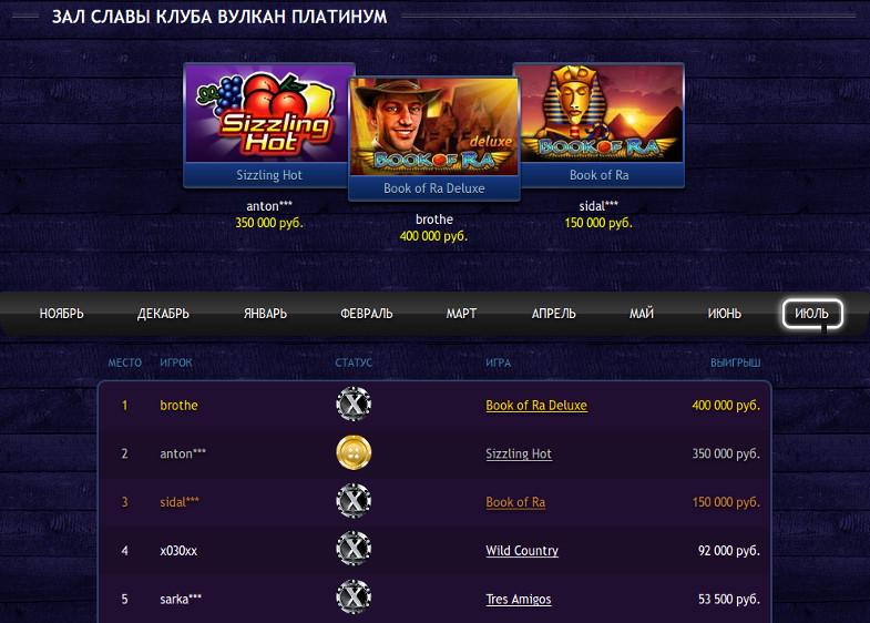 Официальный сайт Вулкан Платинум казино и джек-поты: как воспользоваться?