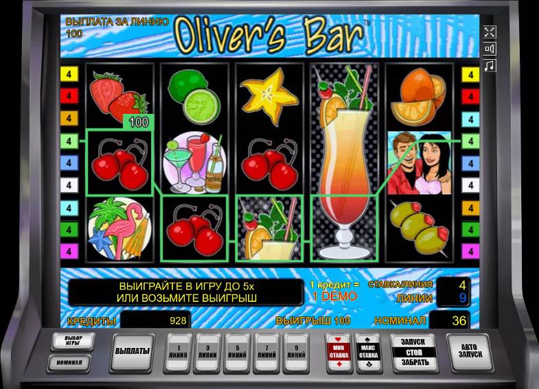 Игровой автомат Oliver's Bar - играть в казино Joycasino в аппараты от Новоматик